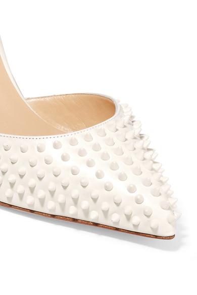 christian louboutin men shoes replica - Christian Louboutin | Baila 85 spiked leather pumps | NET-A-PORTER.COM