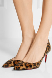 Christian Louboutin Iriza 70 leopard-print patent-leather pumps