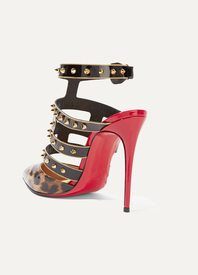 521d79a51492 christian louboutin leopard print patent leather heels