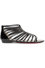 Christian Louboutin Millaclou spiked patent-leather sandals