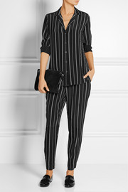 Equipment Hadley striped washed-silk pants