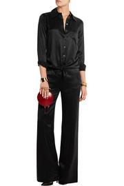 Beckett silk-charmeuse wide-leg pants