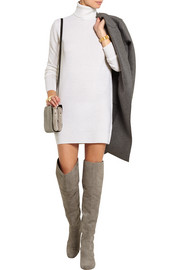Oscar cashmere turtleneck mini dress