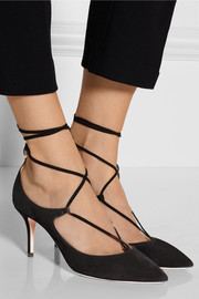 Christy lace-up suede pumps