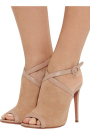 Eddie leather-trimmed suede sandals