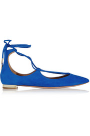 Christy suede point-toe flats