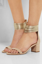 Spin-Me-Around suede sandals