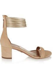 Aquazzura Spin-Me-Around suede sandals
