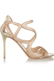 Jimmy Choo Leslie glittered leather sandals