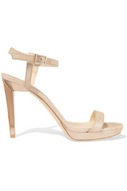 Jimmy Choo Claudette metallic suede platform sandals