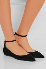Jimmy Choo Lucy suede point-toe flats