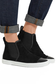 Della faux shearling-lined suede high-top sneakers