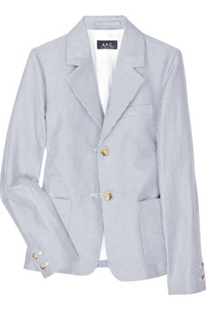 A.P.C. Cotton and linen striped jacket