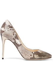 Jimmy Choo Esme dégradé python pumps
