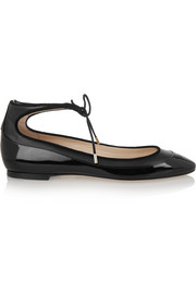 Tyler matte and patent-leather ballet flats