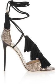 Jimmy Choo Mindy tasseled python sandals