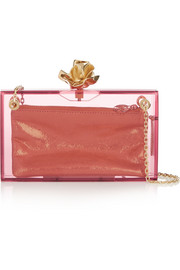 Charlotte Olympia Dressed Up Dora Perspex clutch