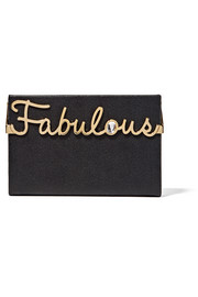 Fabulous Vanina embellished textured-leather box clutch