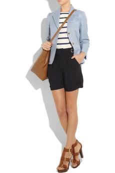 A.P.C.Stripe cotton and linen T-shirt