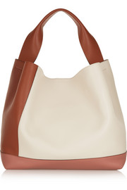 Pod color-block leather shoulder bag