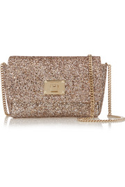 Ruby glittered canvas shoulder bag