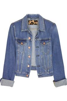 AcneButton-front denim jacket