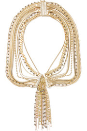 Maya gold-tone beaded necklace