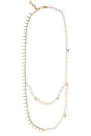 Contrasti gold-tone pearl necklace