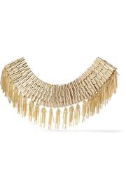Cleopatra gold-tone necklace