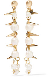 Contrasti gold-tone pearl earrings