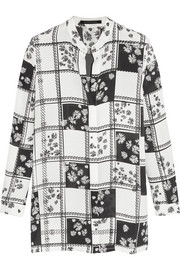 Gibson printed silk-georgette shirt
