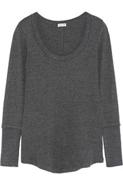 Waffle-knit stretch Supima cotton and Micro Modal-blend top