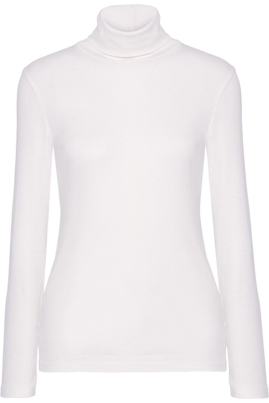 Splendid Supima Cotton and Micro Modal-Blend Turtleneck Top, Off-White, Women's, Size: XL