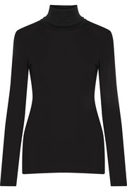 Supima cotton and Micro Modal-blend turtleneck top
