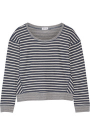 Sierra Falls striped cotton-blend sweatshirt