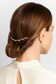 Fata gold-tone pearl hair slide