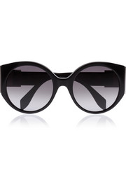 Bow Buckle round-frame acetate sunglasses