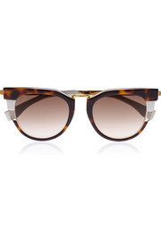 Cat-eye acetate sunglases