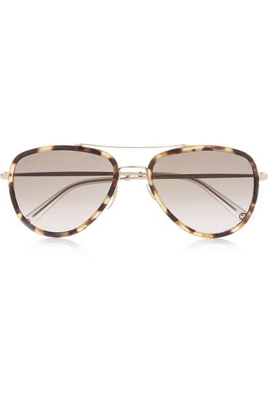 5085b69ff Gucci | Aviator-style acetate and metal sunglasses | NET-A-PORTER.COM