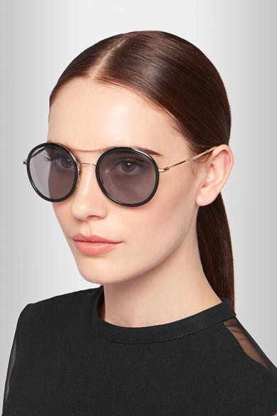 Acetate Leonard Frame Leonard Frame Round Sunglasses Round WDH2EIY9