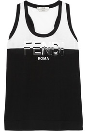 Fendi Printed cotton-jersey tank