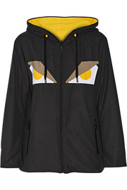 Fendi Monster Eye reversible appliquéd shell jacket