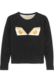 Fendi Printed cotton-blend sweatshirt