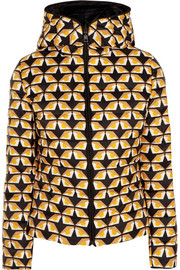 Fendi Reversible printed shell down jacket