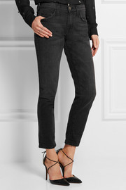 Current/Elliott The Fling faded mid-rise boyfriend jeans