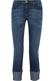 The Cuffed mid-rise skinny jeans
