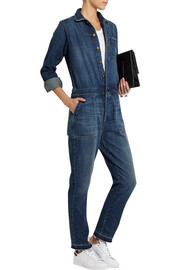 Current/Elliott The Basic Jailbird denim jumpsuit