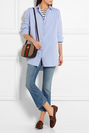 Oversized cotton-poplin shirt