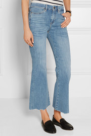 MiH Jeans Lou cropped high-rise flared jeans