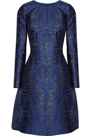 Oscar de la Renta Metallic silk-blend jacquard dress